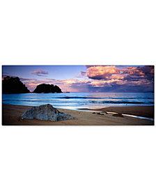 """David Evans 'Kaiteriteri Sunset' 16"""" x 47"""" Canvas Wall Art"""