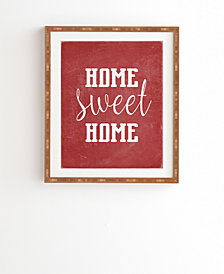 Deny Designs Farmhouse Home Sweet Home Framed Wall Art
