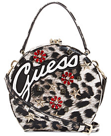 GUESS Britta Leopard Circle Logo Crossbody