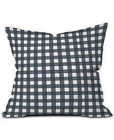 Deny Designs Navy Check Outdoor Throw Pillow