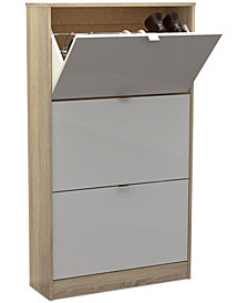 Eldan 3-Drawer Shoe Cabinet, Quick Ship