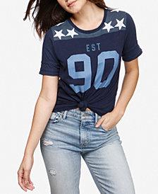 Lucky Brand Graphic-Print Football T-Shirt