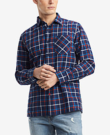 Tommy Hilfiger Denim Men's Troy Windowpane Plaid Shirt, Created for Macy's