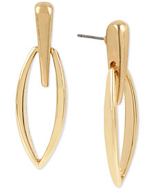 Robert Lee Morris Soho Gold-Tone Drop Earrings