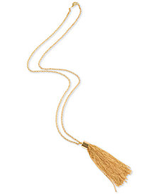 "Charter Club Gold-Tone Long Chain Tassel 32-1/2"" Pendant Necklace, Created for Macy's"