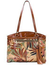 Patricia Nash Palm Leaves Poppy Tote
