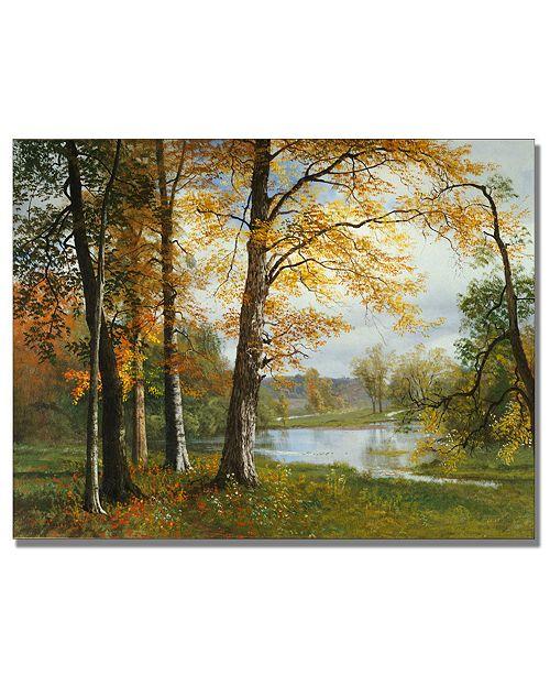 "Trademark Global Albert Biersdant ""A Quiet Lake"" 24"" x 32"" Canvas Art Print"