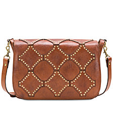 Patricia Nash Diamond Studs Small Saddle Crossbody