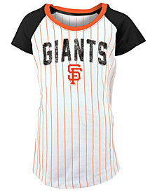 5th & Ocean San Francisco Giants Sequin Pinstripe T-Shirt, Girls (4-16)