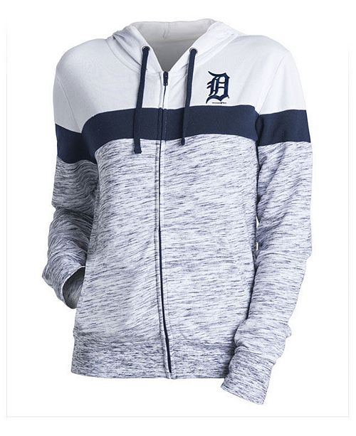 huge discount 31cfd 4d49d 5th & Ocean Women's Detroit Tigers Space Dye Hoodie ...