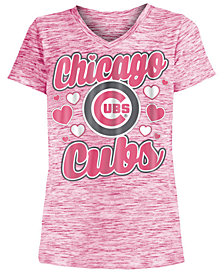 5th & Ocean Chicago Cubs Spacedye T-Shirt, Girls (4-16)
