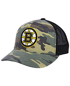 adidas Boston Bruins Camo Trucker Cap