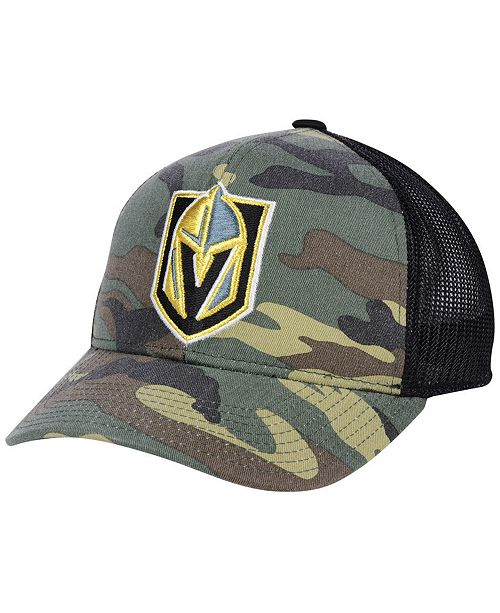 e2245c0b9eb adidas Vegas Golden Knights Camo Trucker Cap - Sports Fan Shop By ...