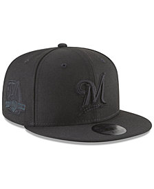 New Era Milwaukee Brewers Blackout Ultimate Patch Collection 59FIFTY Fitted Cap