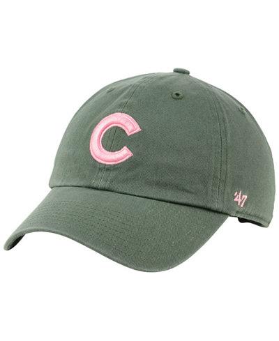 '47 Brand Chicago Cubs Moss Pink CLEAN UP Cap