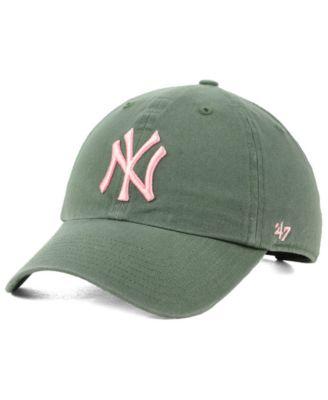 b9a3a0498 New York Yankees Moss Pink CLEAN UP Cap