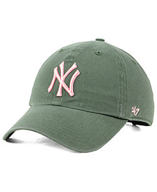 '47 Brand New York Yankees Moss Pink CLEAN UP Cap