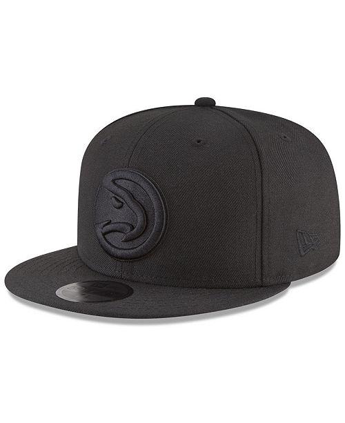 New Era Atlanta Hawks Blackout 59FIFTY Fitted Cap