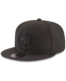 Brooklyn Nets Blackout 59FIFTY Fitted Cap