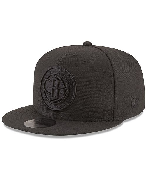on sale b7c23 6e495 New Era Brooklyn Nets Blackout 59FIFTY Fitted Cap ...