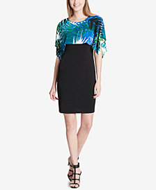 Calvin Klein Printed Popover Sheath Dress
