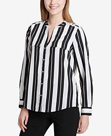 Calvin Klein Striped Roll-Tab Shirt