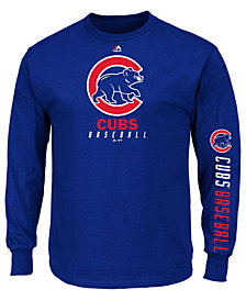 Majestic Men's Chicago Cubs Game Supreme Long Sleeve T-Shirt