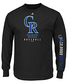 Majestic Men's Colorado Rockies Game Supreme Long Sleeve T-Shirt