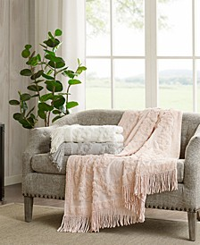 "Chloe Cotton 50"" x 60"" Tufted-Chenille Throw"
