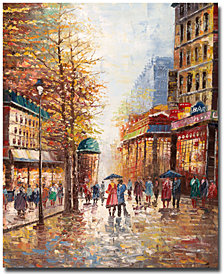 """Joval 'French Street' 24"""" x 32"""" Canvas Wall Art"""