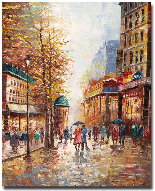 "Trademark Global Joval 'French Street' Canvas Art - 24"" x 32"" x 2"""