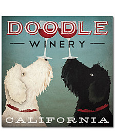 "Ryan Fowler 'Doodle Wine' 14"" x 14"" Canvas Wall Art"