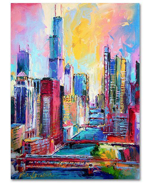 """Trademark Global Richard Wallich 'Chicago 3' Canvas Art - 35"""" x 47"""" x 2"""""""