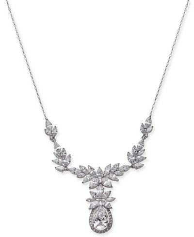Danori silver tone crystal flower statement necklace 15 12 2 danori silver tone crystal flower statement necklace 15 12 mightylinksfo