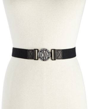 LOGO-BUCKLE WEBBED STRETCH BELT, CREATED FOR MACY'S