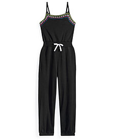 Nowadays Embroidered Jumpsuit, Big Girls & Juniors