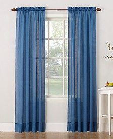"""Crushed Sheer Voile 51"""" x 95"""" Curtain Panel"""
