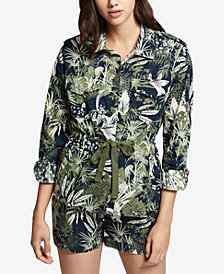Sanctuary Cotton Printed Eyelet Jacket