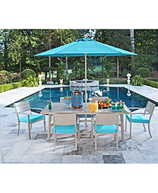 CLOSEOUT! Beach House Outdoor Dining Collection, with Sunbrella® Cushions, Created for Macy's