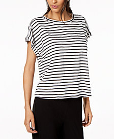 Eileen Fisher Organic Linen Striped Top