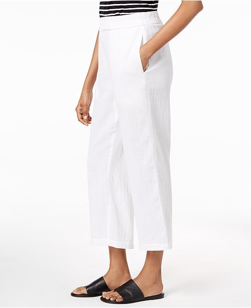 Petite White Eileen Cotton Regular Fisher Straight Leg Organic Pants amp; v8AxqT