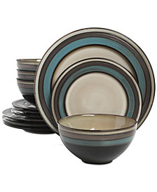 Gibson Everston Teal 12-Pc. Dinnerware Set, Service for 4