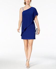 MSK Draped One-Shoulder Dress, Regular & Petite