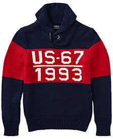 Polo Ralph Lauren Big Boys CP-93  Shawl-Collar Cotton Sweater