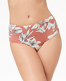 Roxy Softly Love Printed Mid-Waist Bikini Briefs