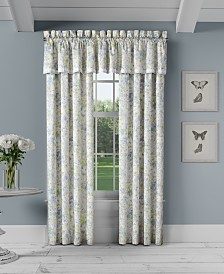 """Piper & Wright Flower Bed Blue Straight 88"""" x 15"""" Window Valance"""
