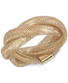 Openwork Braided Mesh Stretch Ring in 14k Gold, Made in Italy