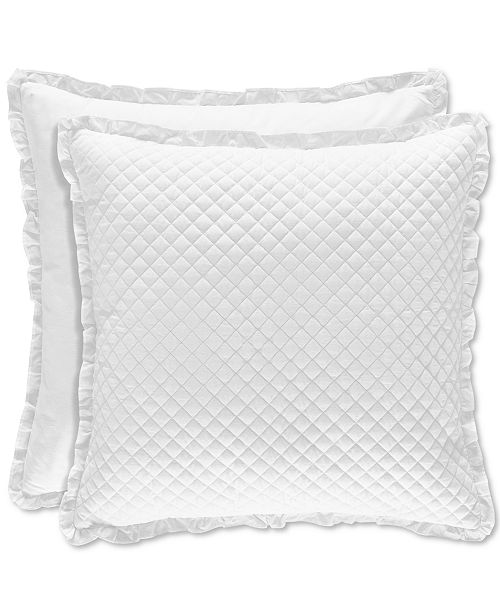 Piper & Wright CLOSEOUT! Flower Bed White European Sham