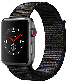 Apple Watch Series 3 (GPS + Cellular), 42mm Space Gray Aluminum Case with Black Sport Loop