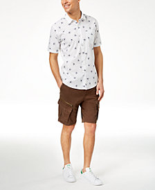 American Rag Aloha Floral Shirt & Belted Cargo Shorts, Created for Macy's